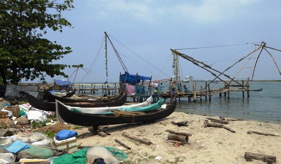 Bei den Fischern an der Küste