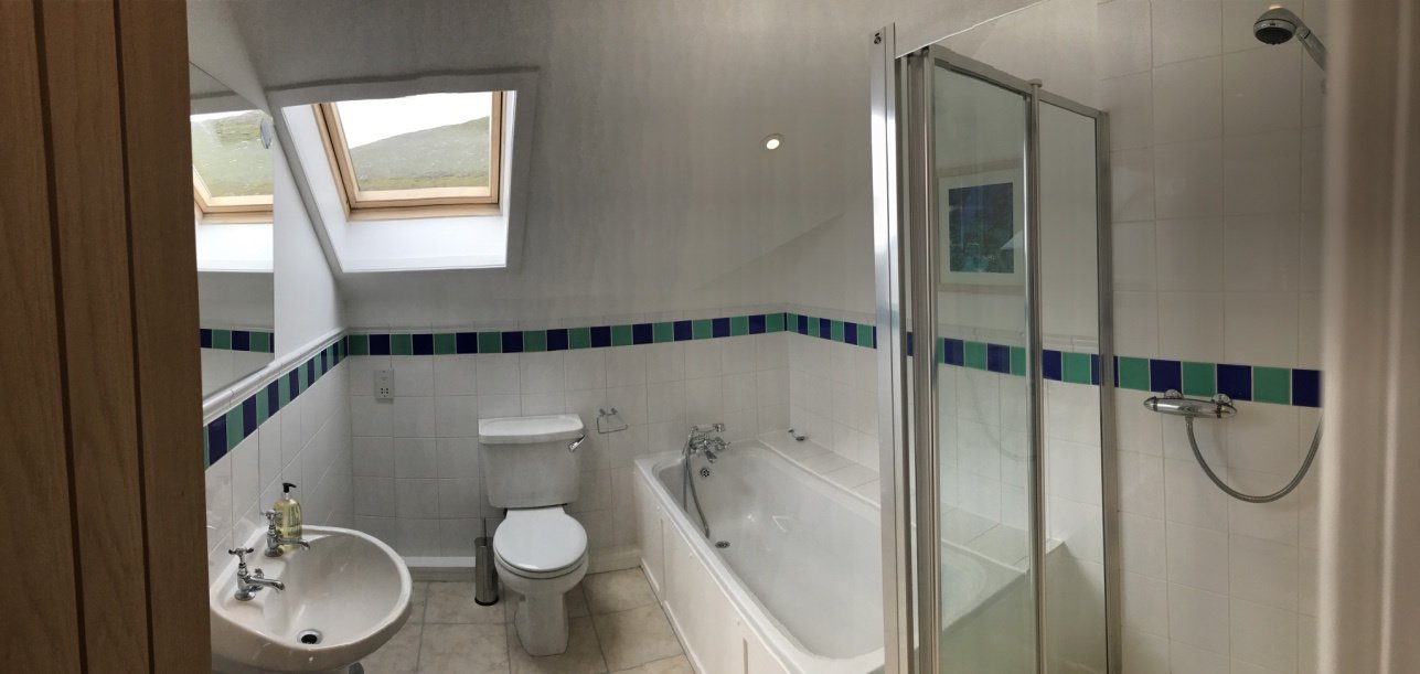 Family bathoom with bath and standalone shower