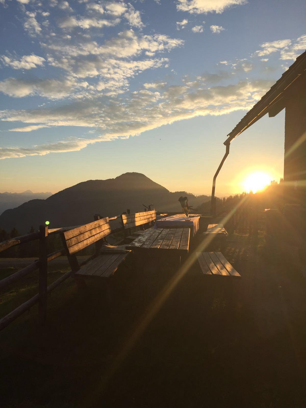 Sonnenuntergang Wertschacher Alm