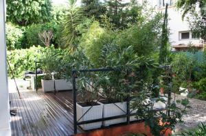 Terrasse après l'aménagement paysager