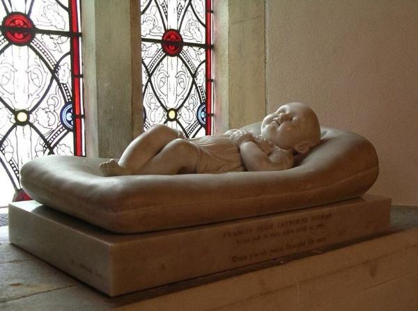 Francis Leyborne Popham in marble