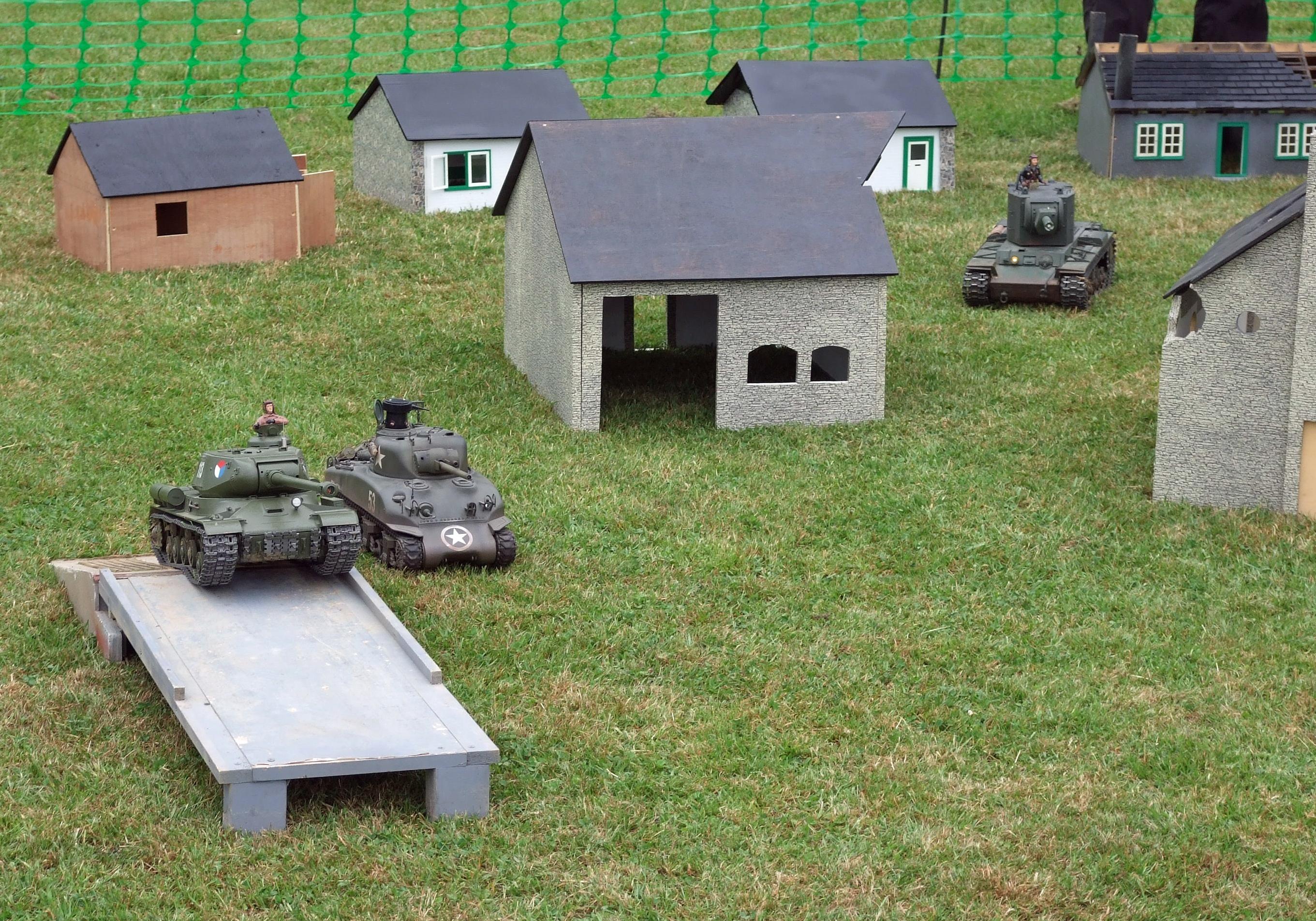 Model tanks were impressive