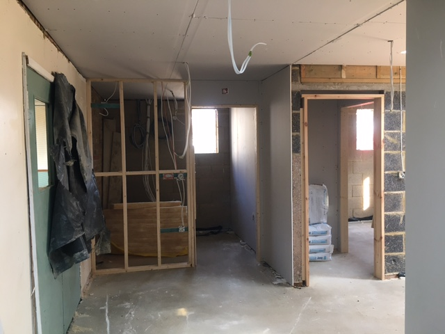 Work has started on the plasterboard 20.04.21
