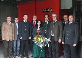 Margaretha Valerie und Ing. Andreas Habsburg-Lothringen bei der Eröffnung des Heizwerkes im Mai 2009