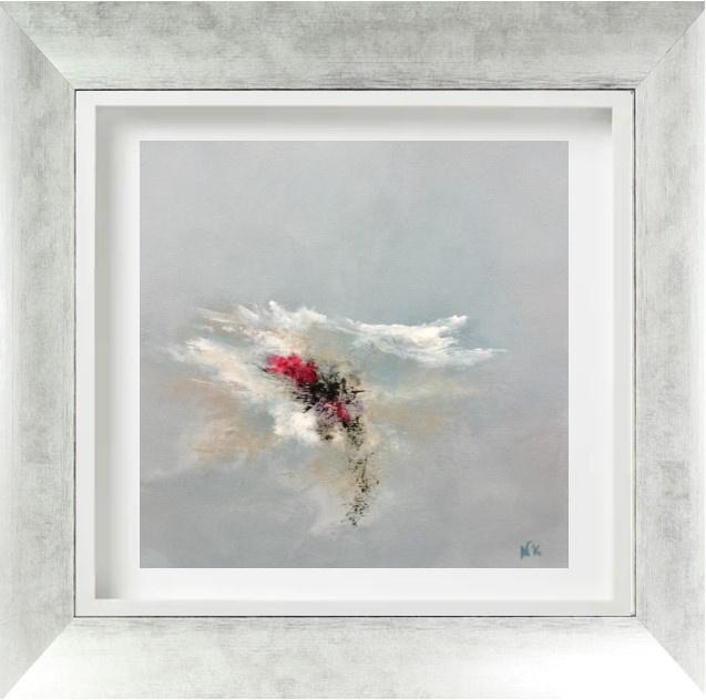 """""""Pivoines 1 """" - H40x40 cm - Framed 63x63 cm -  Acrylic on canvas"""