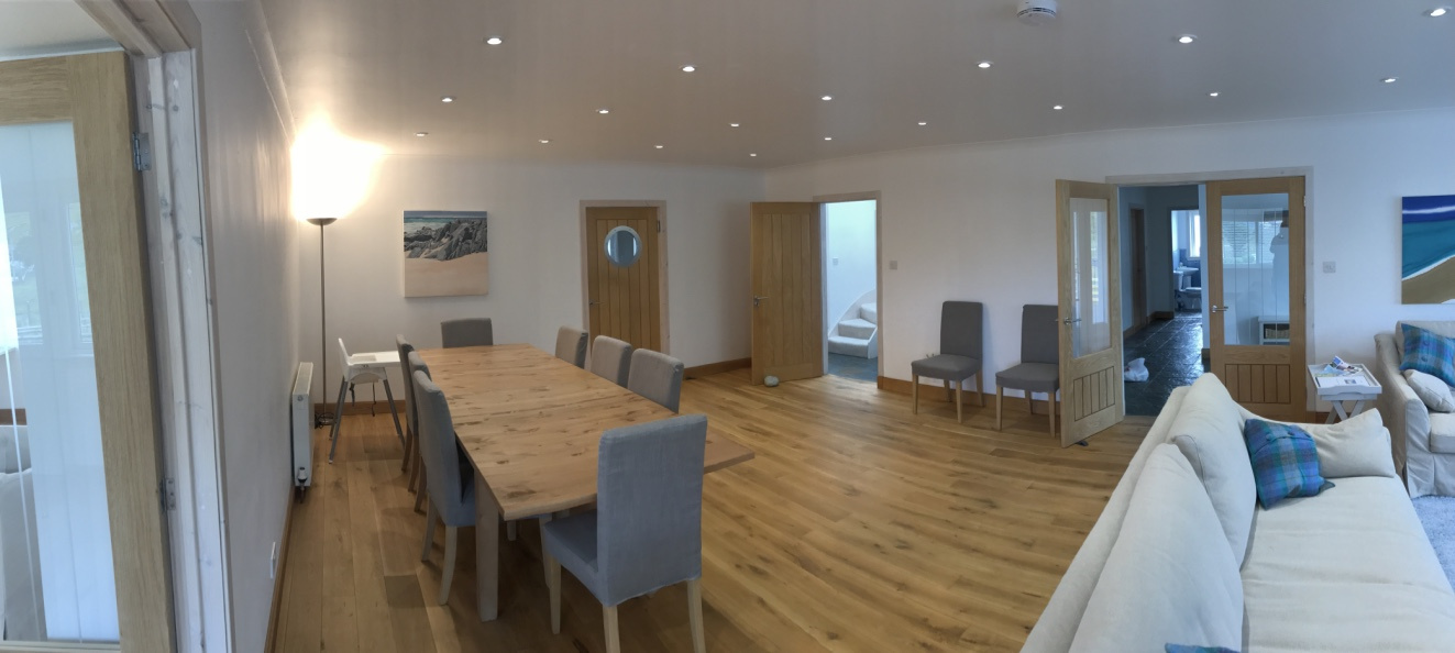 Dining area in main living room