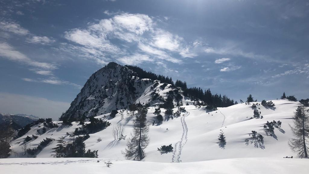 10. April  2021  Skitour Kalmberg - Indianer - Goiserer Hütte