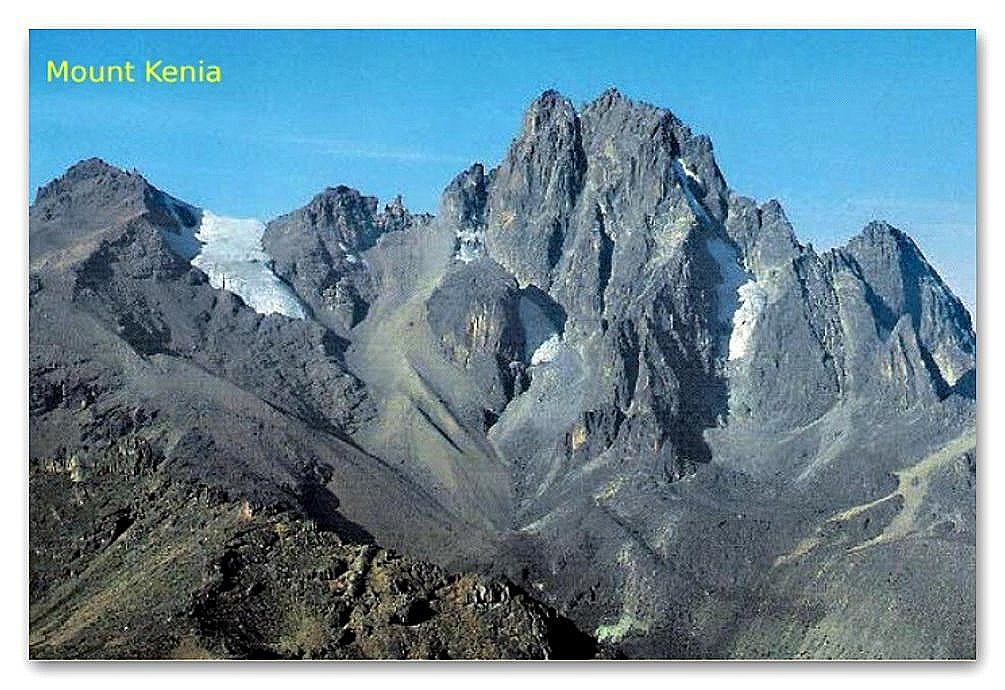 Mount Kenia Die 3 Gipfel des Mount Kenia: Batian (5199 m) , Nelion (5.189 m) Lenana (4.985 m)