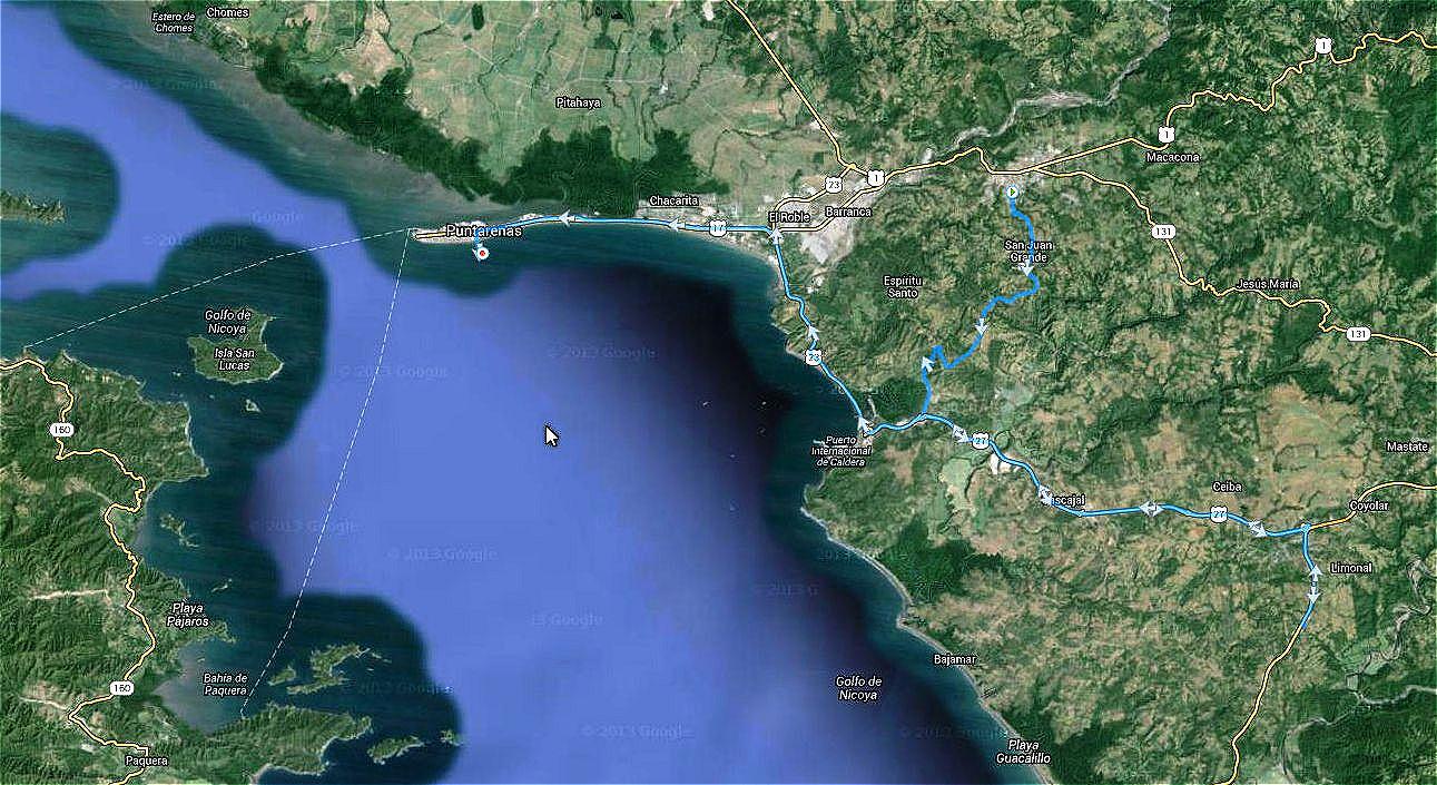 Puntarenas Costa Rica Landgang in Costa Rica mit Fahrt nach Esparza.