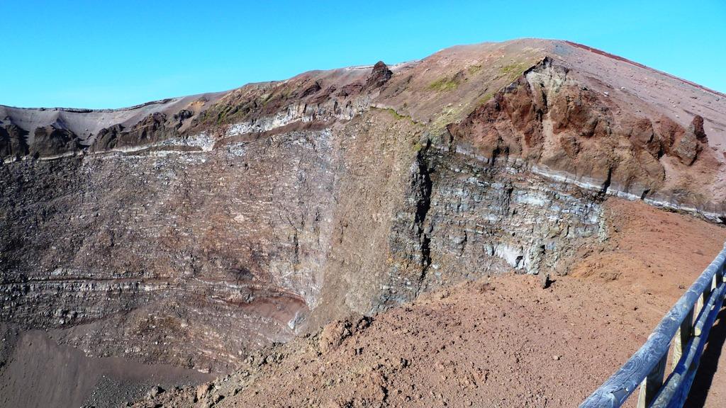 Der höchste Punkt des Kraterrandes Der Berg ist heute 1281 m hoch