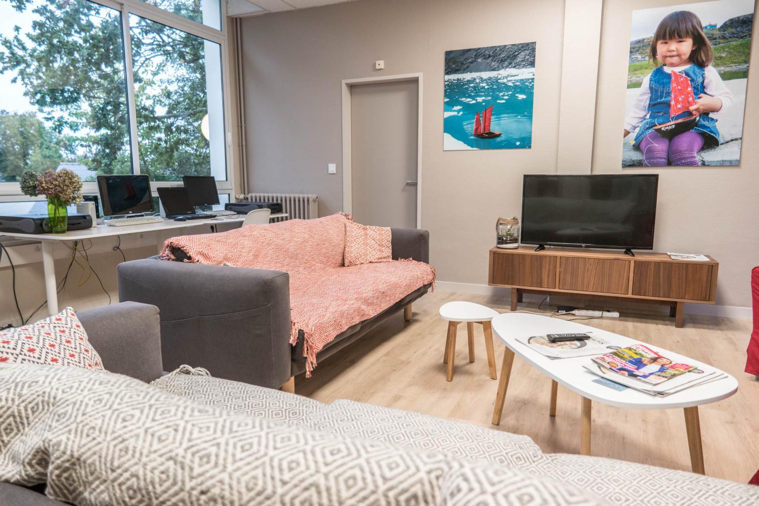 Notre salle détente avec l'accès WIFI gratuit