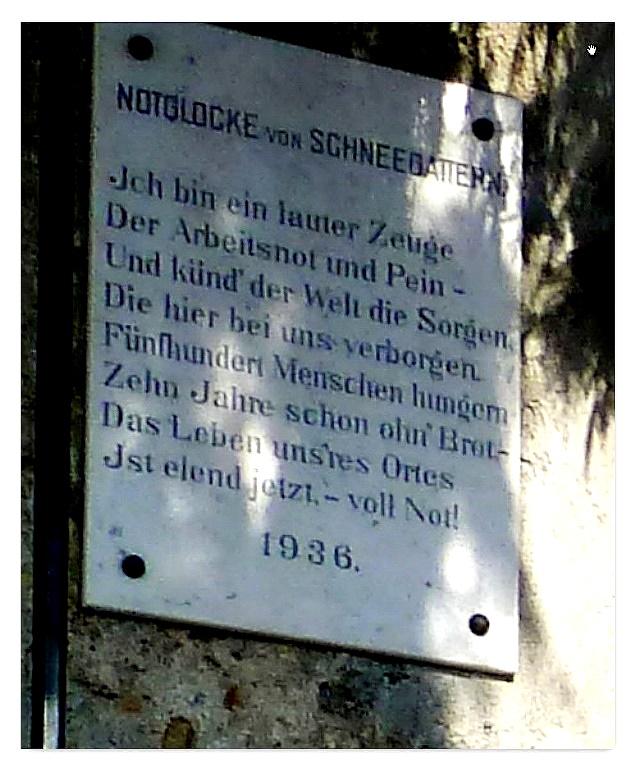 Inschrift bei der Notglocke