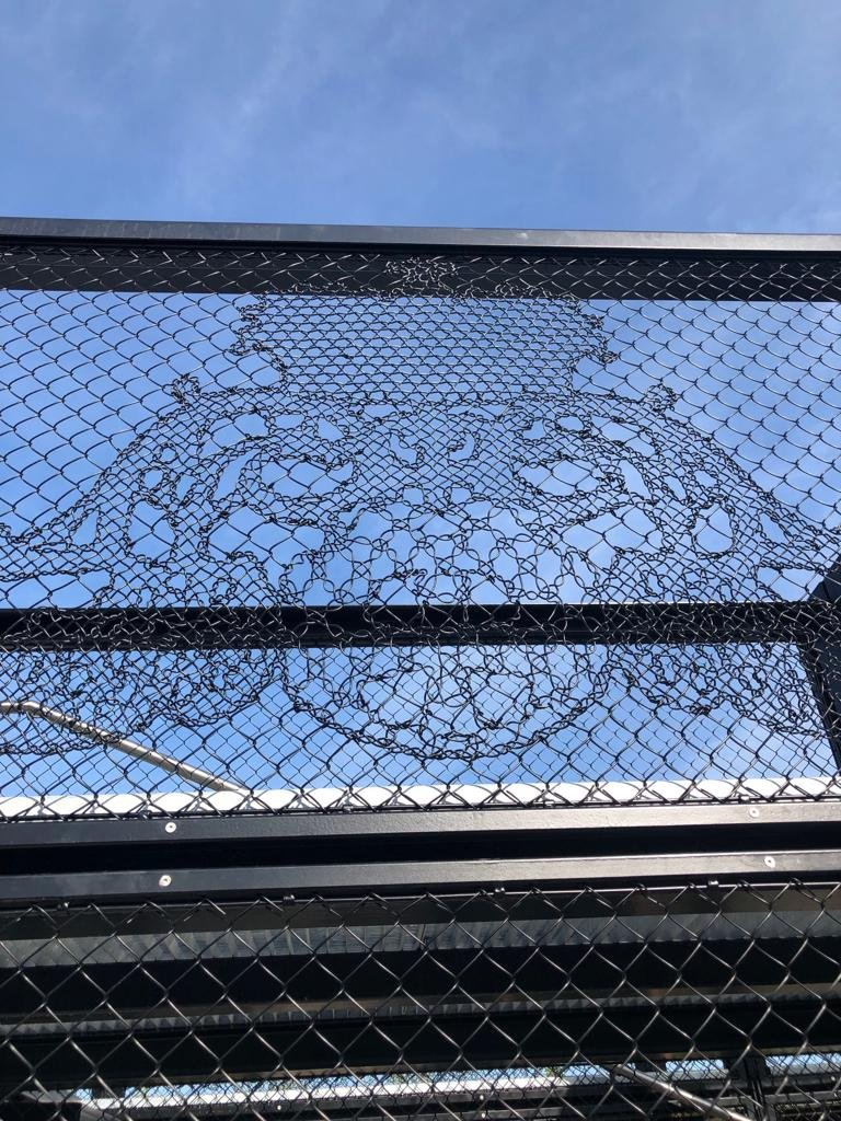 Lace Fence Ornament