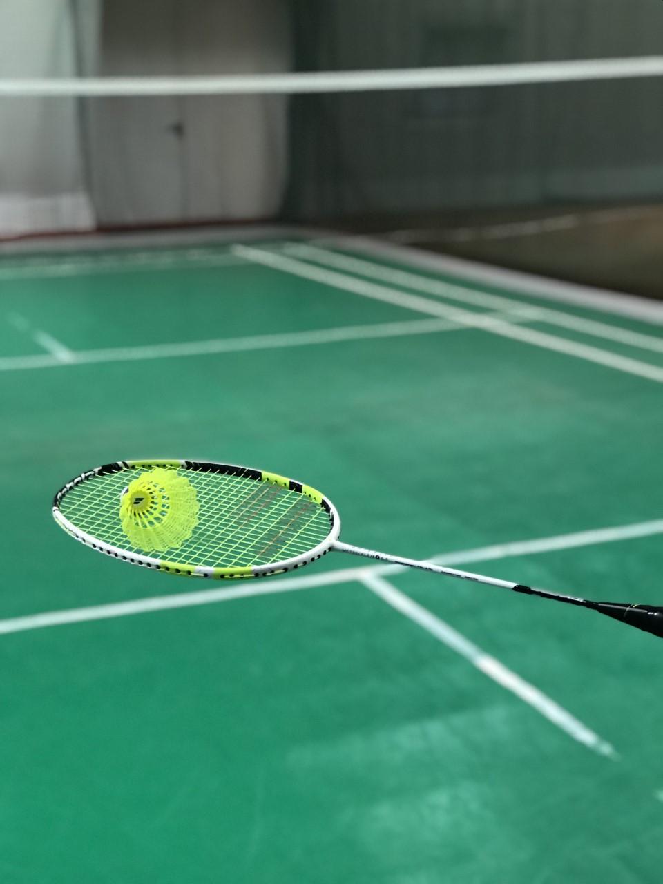 badminton igrišče, lopar in žoga