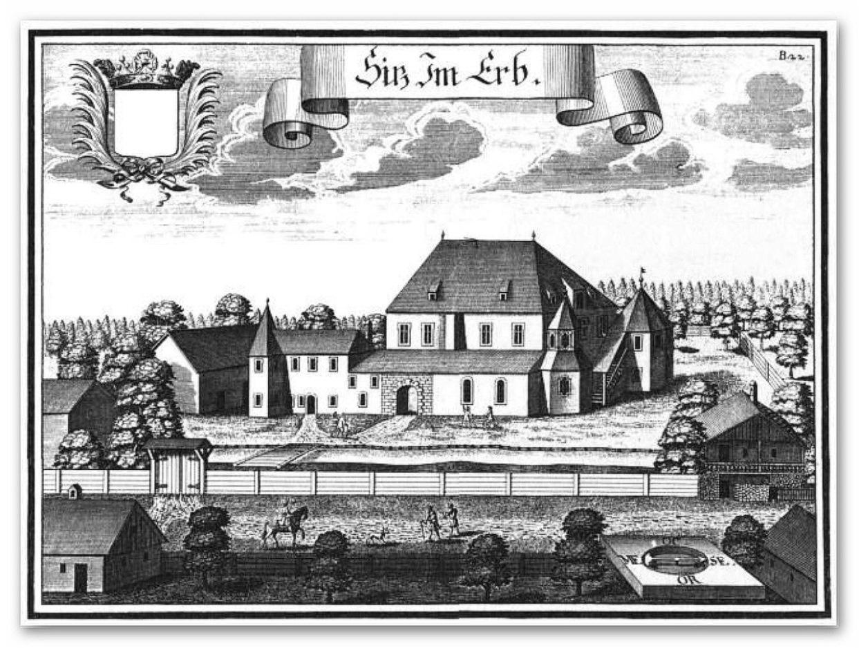 Als Erbauungsjahr von Erb wird das Jahr 1150 vermutet. Die ursprünglichen Erbauer sind nicht bekannt. Nach einem Umbau von 1365 wird Erb im Friedburger Urbar als Schloss bezeichnet.