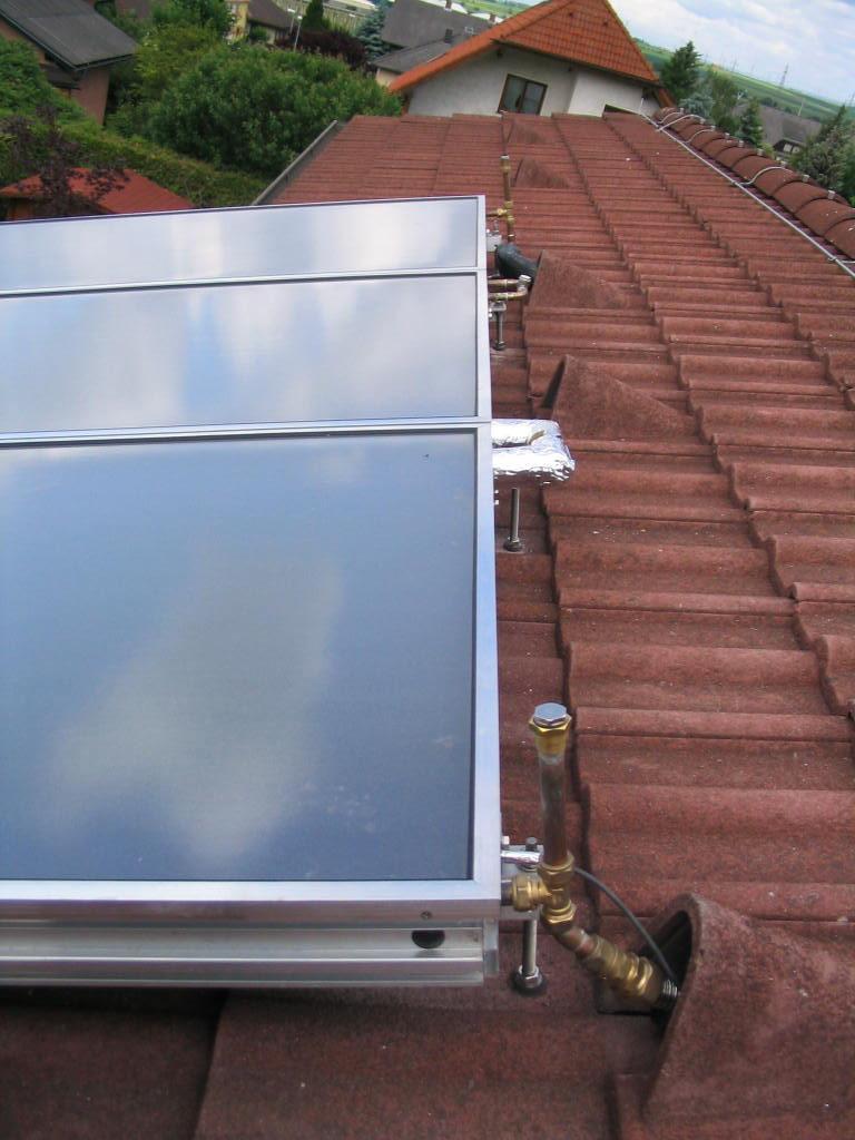 Warmwasser-Solaranlage