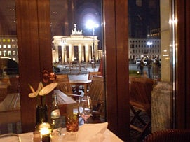 Beautiful view from INSIDE the HOTEL ADLON, Berlin