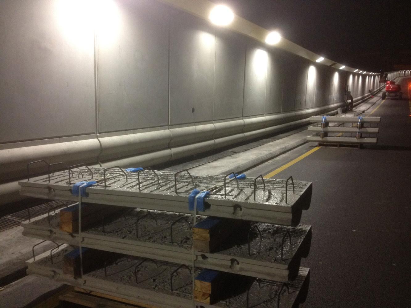 Glissières de sécurité tunnel du Vieux Port