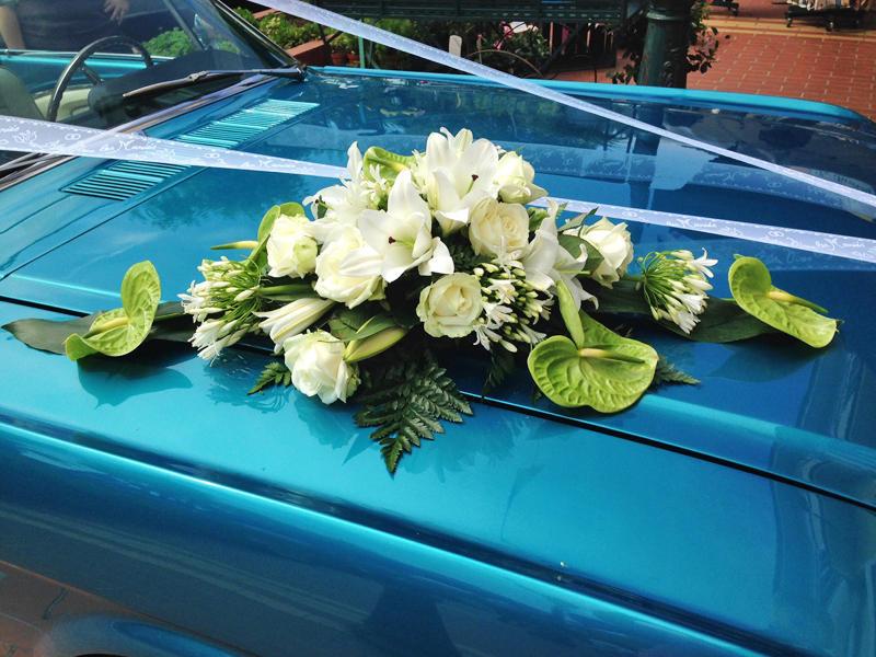 Décoration de voiture mariage - 100 €