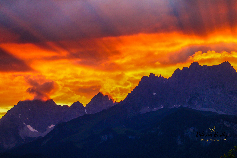 Sonnenuntergang Sankt Johann in Tirol