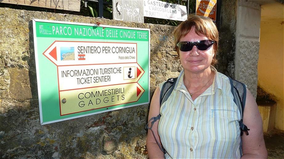 Wegweiser nach Corniglia
