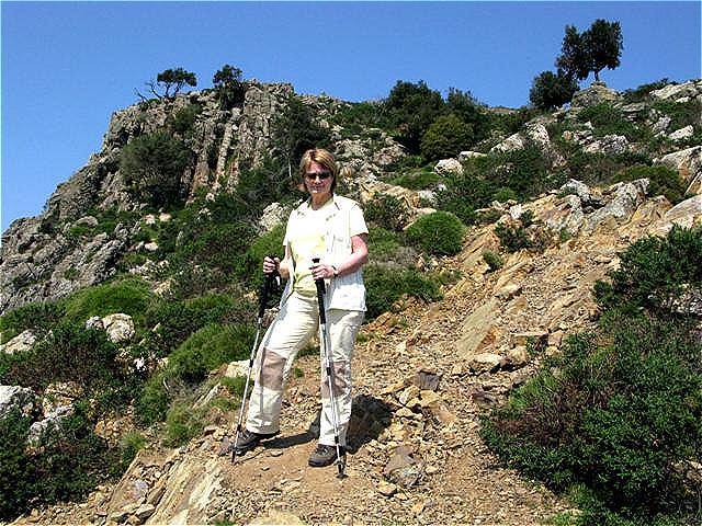 Kleine Steilstufe im Abstieg