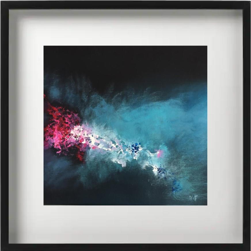 """""""Ibis E1"""" H40x40 cm - Framed 52x52 cm - Acrylic on canvas -"""
