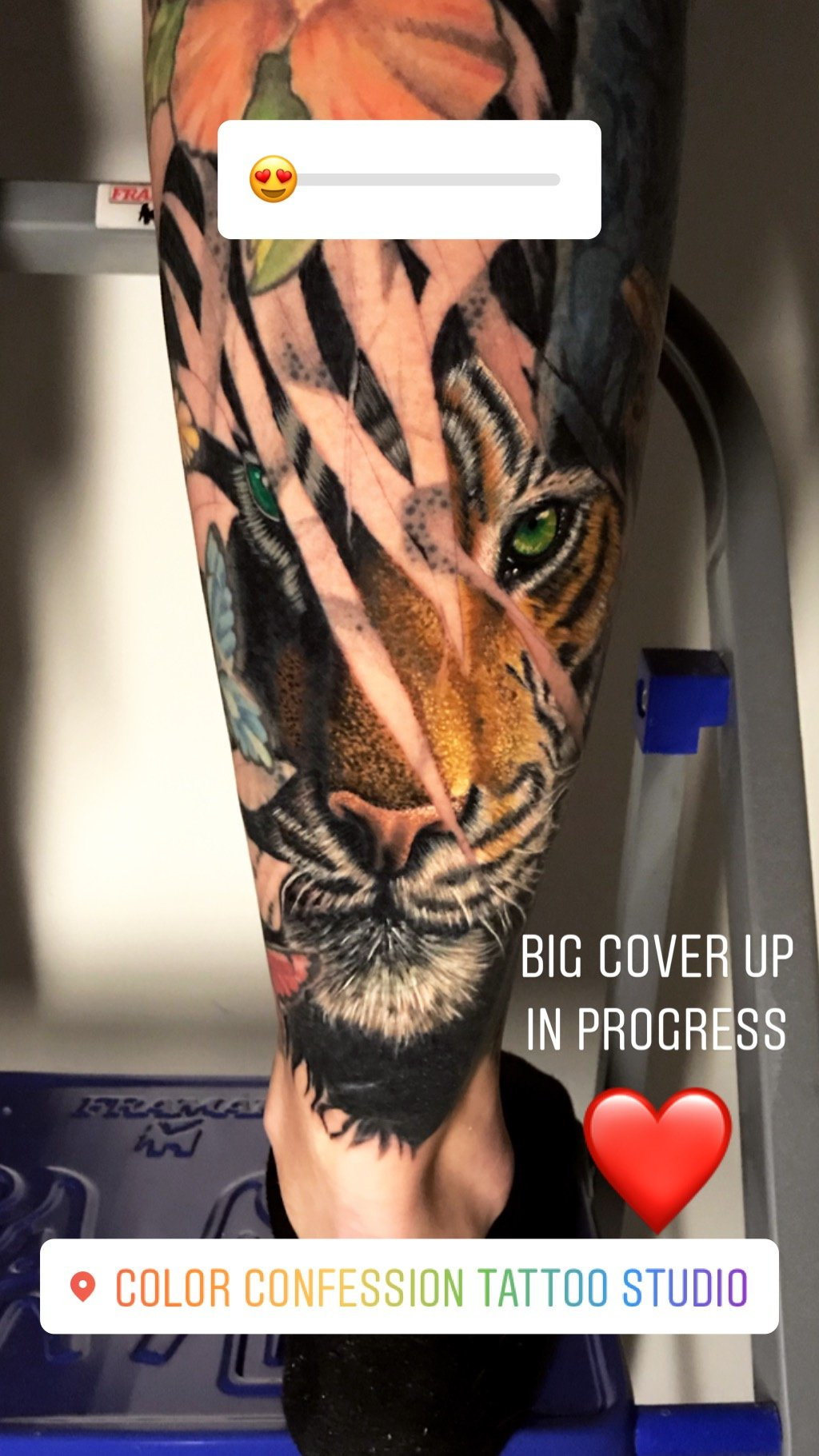 Tiger realistic  cover up Tattoo
