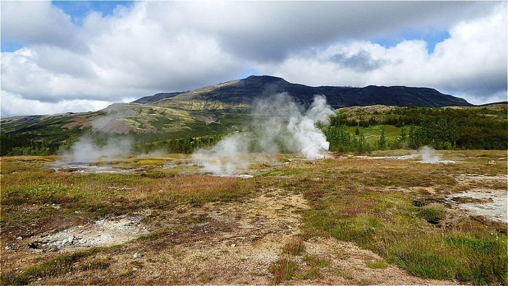 Im Geothermalgebiet Geysir