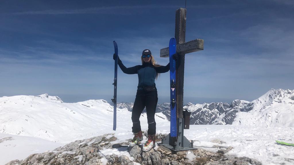 Auf dem Gipfel des Elm in 2.128 m