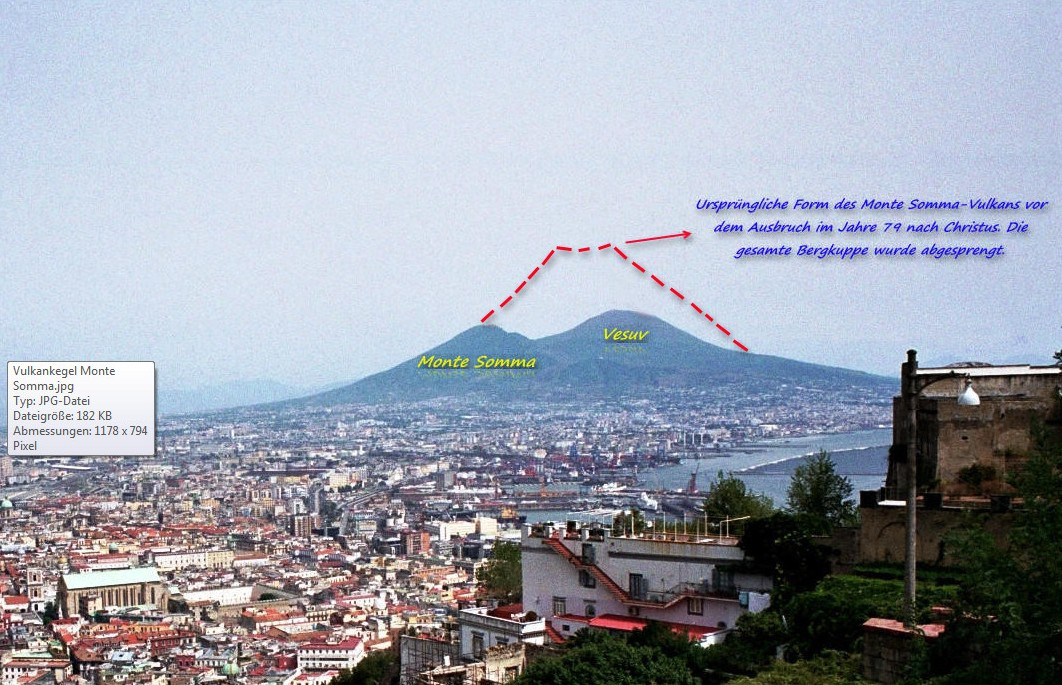 Monte Somma vor Ausbruch