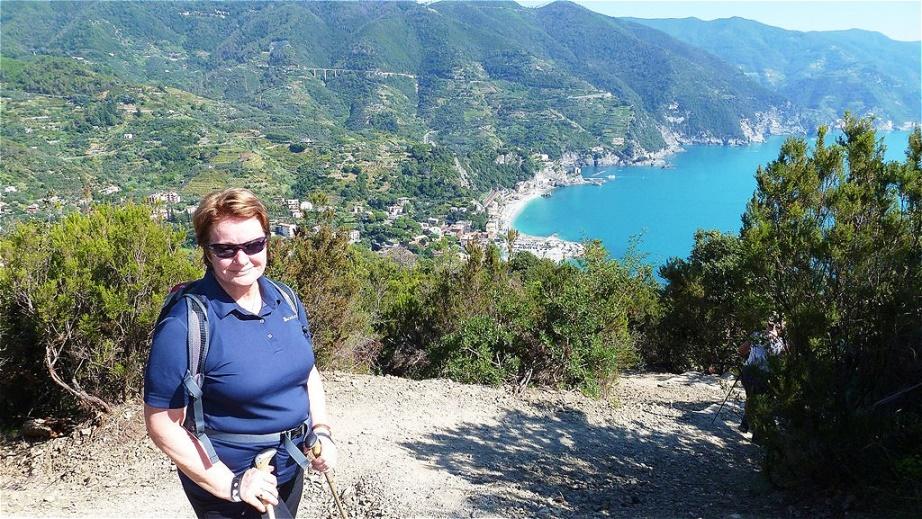 Über Monterosso am Kap von Mesco