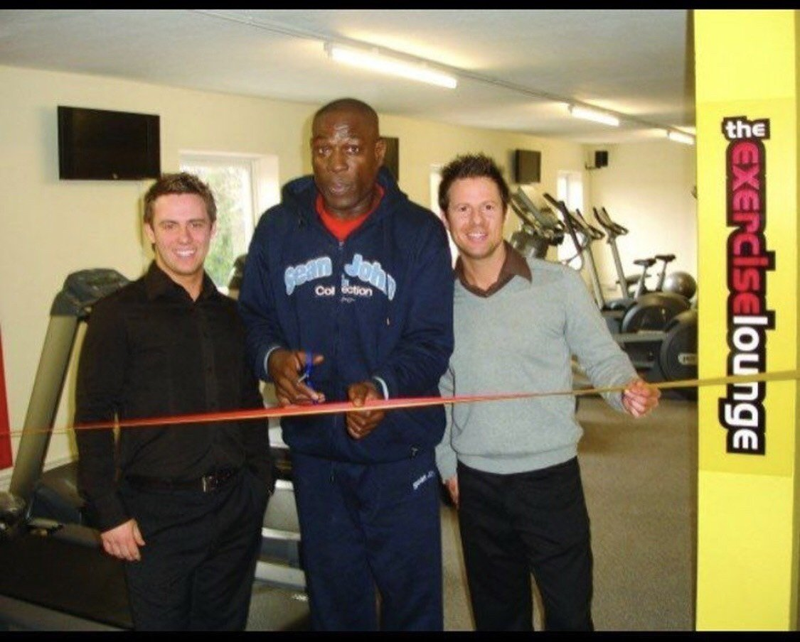 Opening day with Frank Bruno MBE