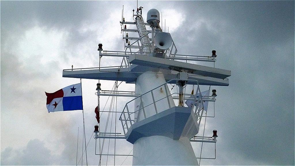 Die Flagge Panamas ist gesetzt !