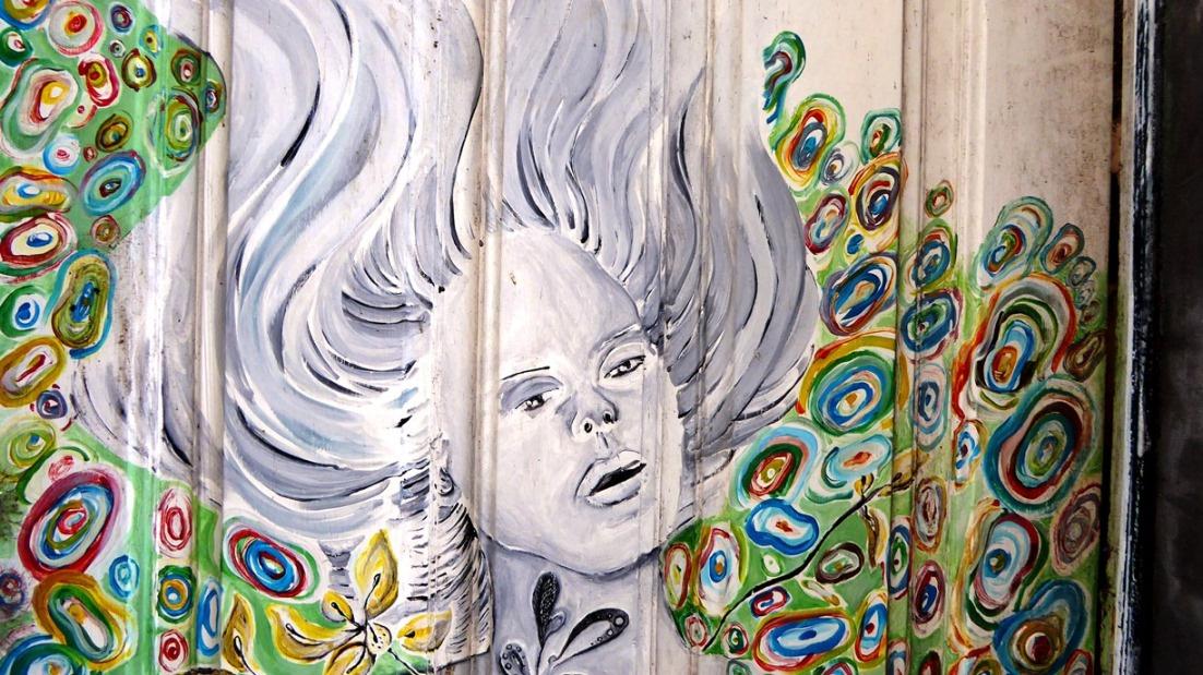 Bunte Türen in der Altstadt Funchals - Ein Kunstprojekt verwandelt die Altstadt in ein Freilichtmuseum !