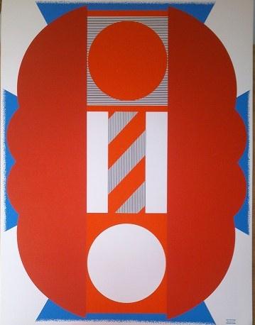 KUMI SUGAI Fest der Bälle Serigraphie in 4 Farben gedrückt von Albin Uldry Bern 1971  Auflage 3000 Stück Signaturstempel des Künstlers Größe 65x50 cm 70 €