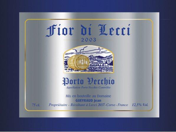Cuvée Prestige vin corse Fior Di Lecci