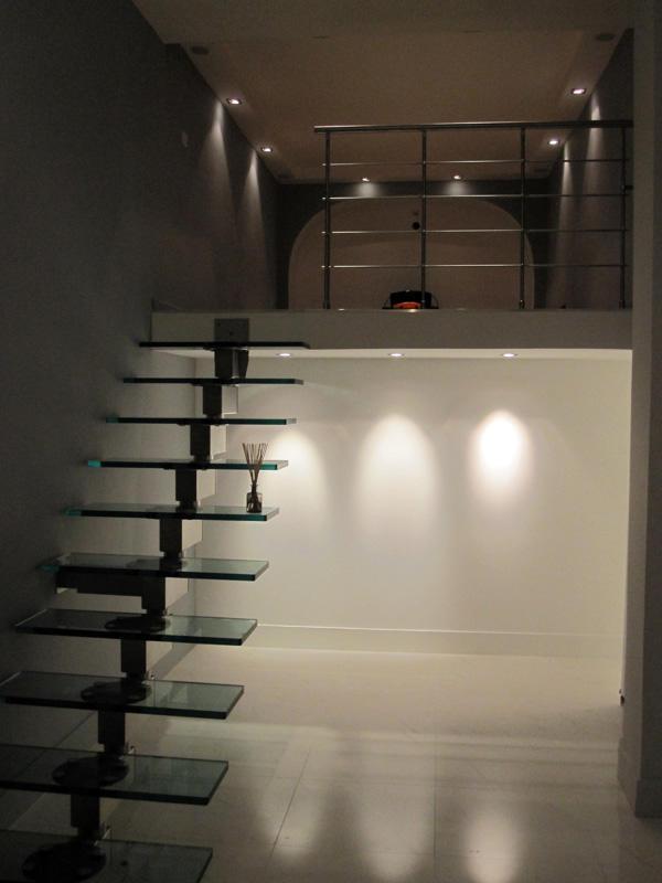 Création escalier en verre - Après