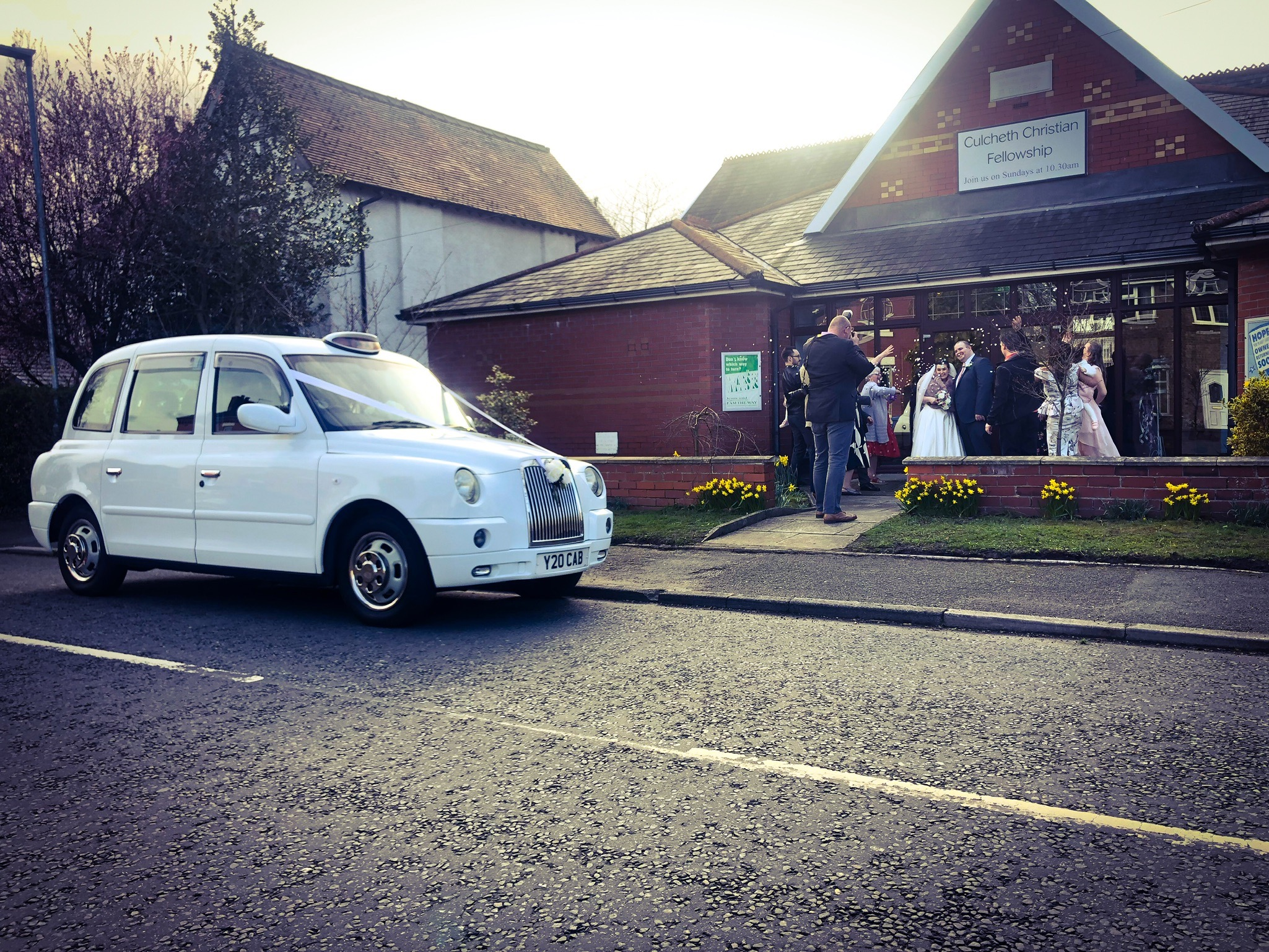 Culcheth wedding taxi cars