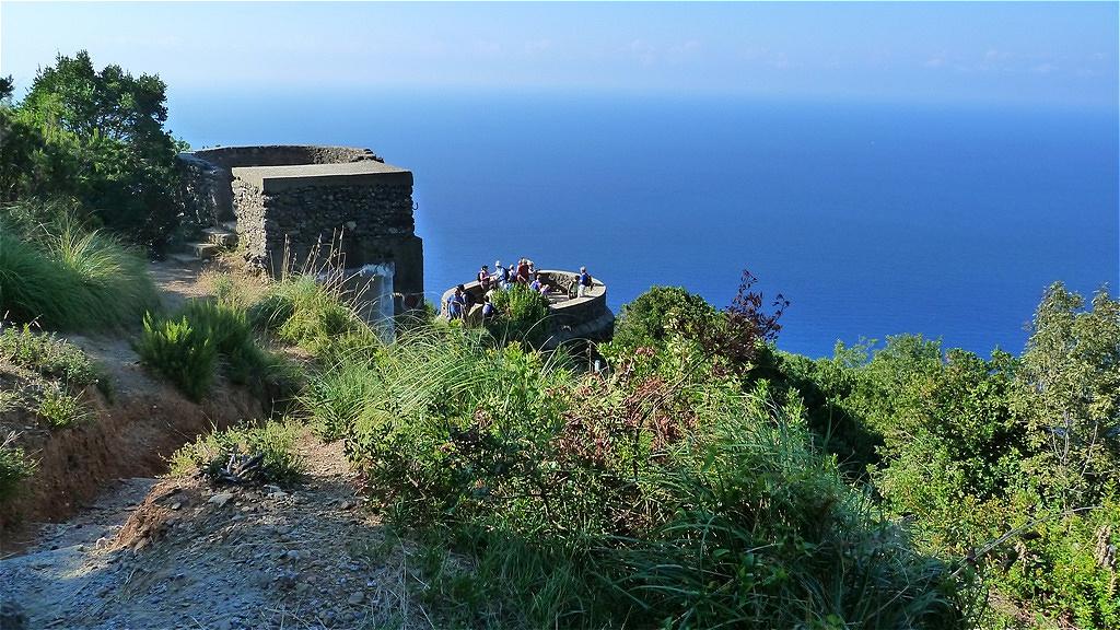 Blick hinaus auf das Ligurische Meer
