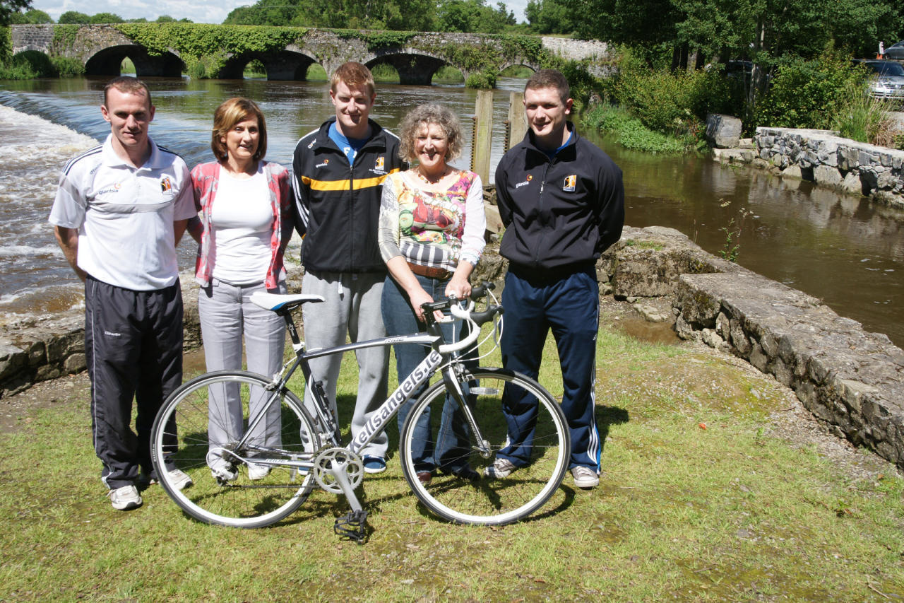 Noel Hickey, Colette Dalton (Cois Nore), Richie Power, Liz Ruth (Cois Nore) and Paul Hickey come together to launch the Kells Angels Charity Cycle