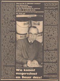 1978:  Wie kommt ausgerechnet ein Bauer dazu?    (Linzer Kirchenzeitung)