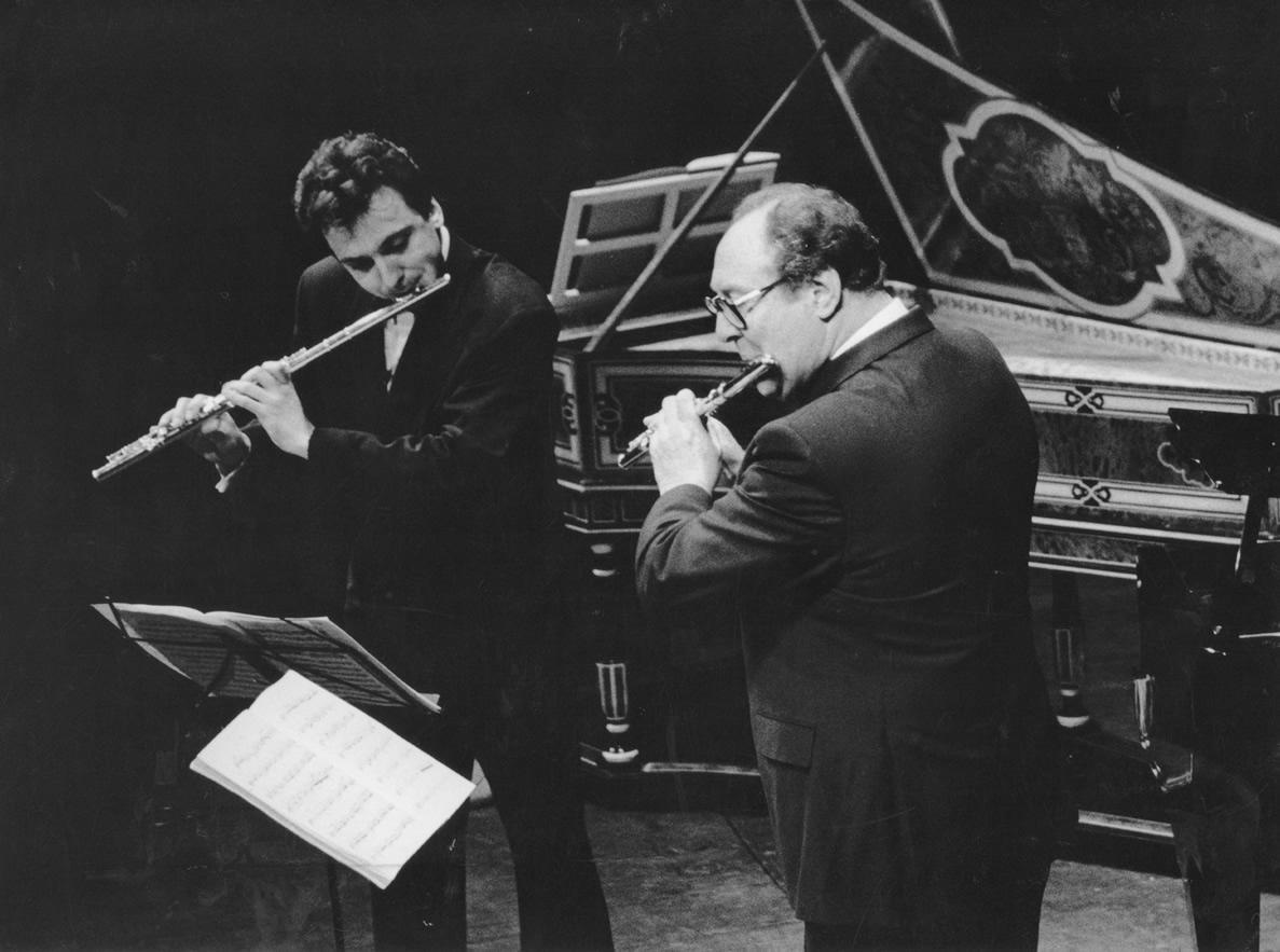 Avec Jean-Pierre Rampal (Théâtre du Châtelet 1987) Photo Marie-Noëlle Robert