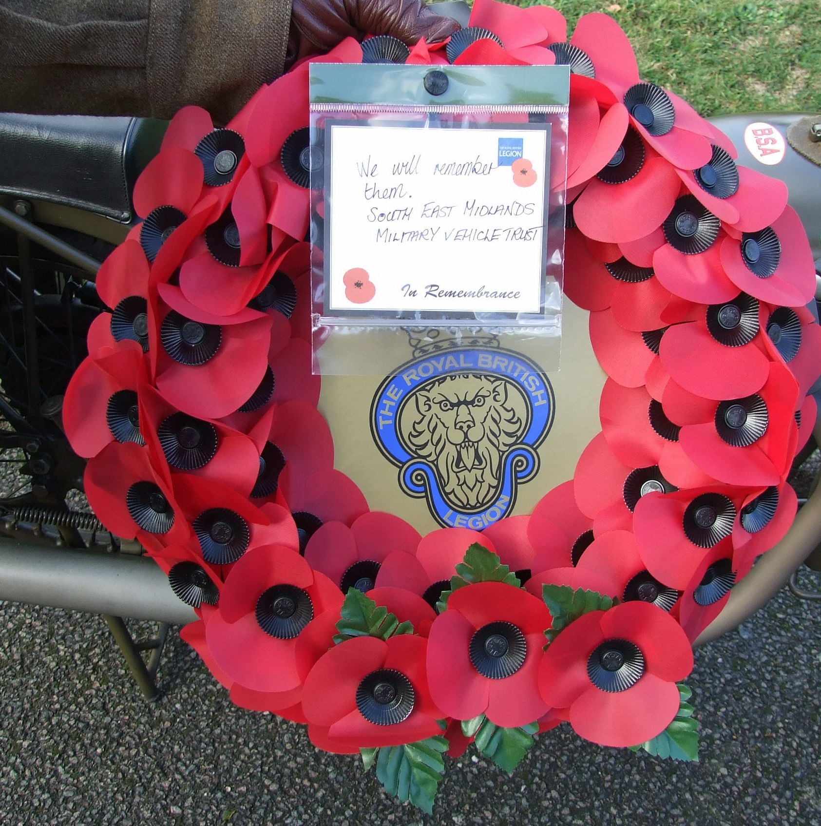 Wreath from the SE Midlands Area, MVT