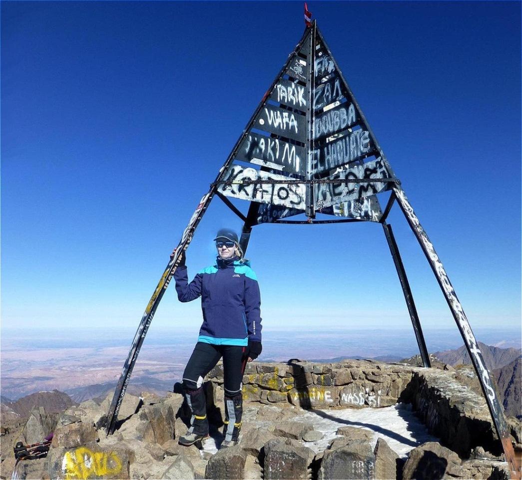 Auf dem GipfelDjebel Toubkal - 4.167 m -Marokko - Hoher Atlas - Jahreswechsel 2013-2014