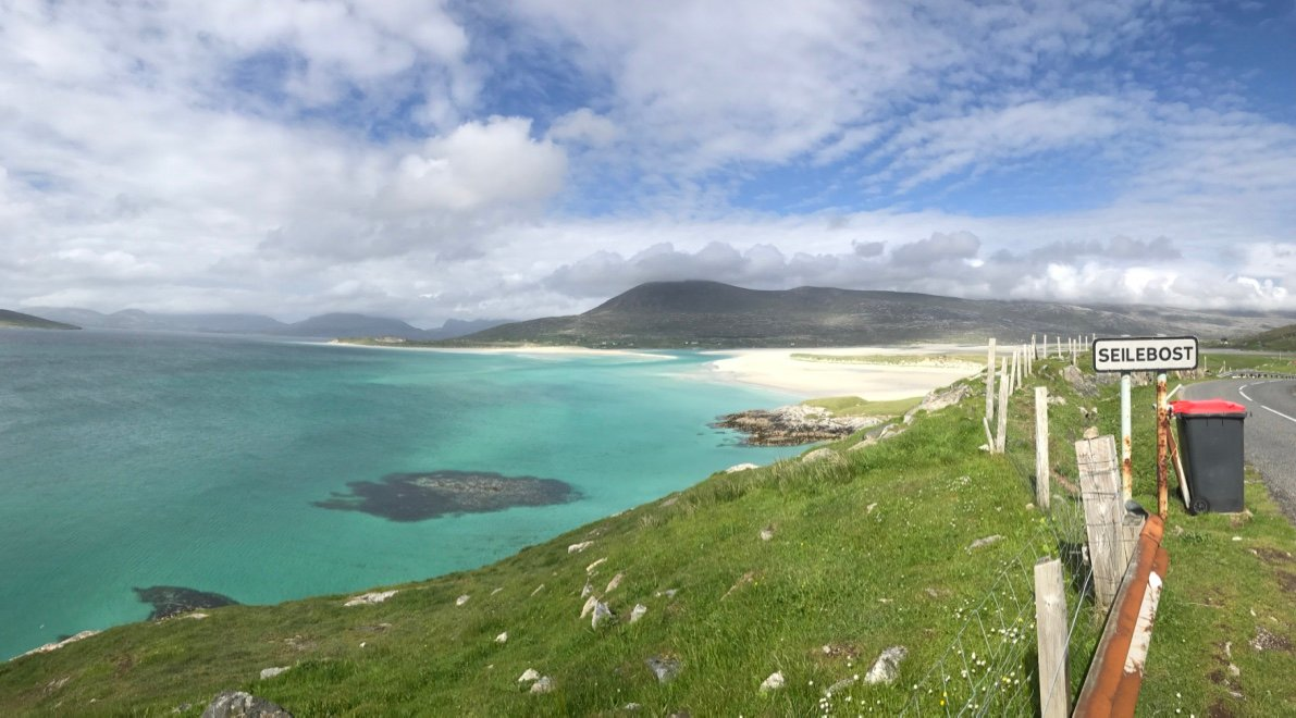 Iconic view of Seilebost and Luskentyre