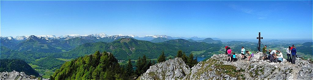 Gipfelpanorama West Tennengebirge - Berchtesgadener Alpen - Untersberg