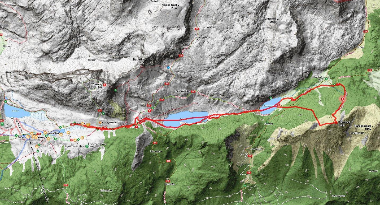 Karte Schitour Rosskogel