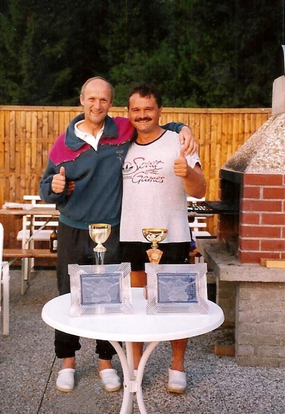 Vereinsmeister im Doppel 1993 mit Erich Seidl