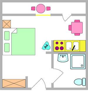 Tloris apartma 6
